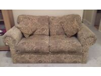 Sofabed, double sized in traditional material, complete with matching cushions