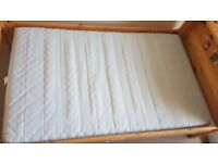Toddler Bed Extendable Ikea used, from smoke/pet free home. Matrices w/ stains,recommend steam clean