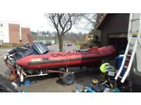 5mtr rib evinrude 60hp ptt small amount of work required engine runs great