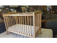 Wooden Cot In Good Condition