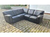 REAL LEATHER CORNER SOFA USED IN REASONABLE CONDITION