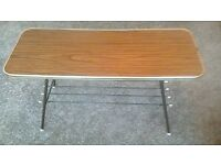Retro/Vintage 1960s/70s Formica Topped Coffee Table on Metal Legs