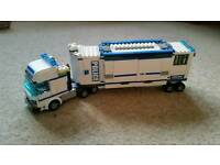 LEGO Police truck with mobile incident room