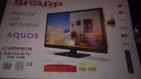 "Sharp 24"" HD LED TV and DVD"