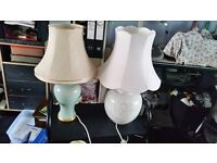 STUNNING SOLID MARBLE TABLE LAMPS FOR SALE WITH SHADES