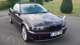 BMW 318 CI Auto Convertible 2003, 77k, Mot, 4 Keys & Service History £2695 Price Reduced
