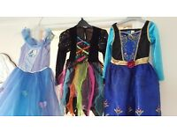 Cinderella, Frozen and Witch fancy dress