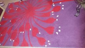 Gorgeous REDUCED Royal colours Large room rug fromJohn Lewis 150 x 235 cms