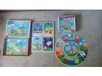 Peppa Pig bundle - 4 x DVDs (62 episodes) + 2 x puzzles