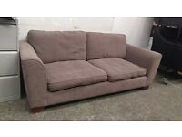 Marks and Spencer 2 seater brown fabric sofa