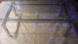 Glass/mirror furniture coffee table