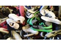 100 pairs of mixed trainers
