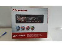 Pioneer DEH-150MP in car radio, CD MP3 Player Front AUX in Plays iPod iPhone