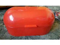 Red bread bin