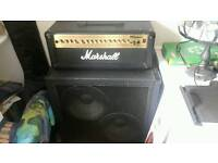 Marshall amp and laney cabinet