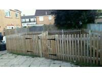 Fence panels & gate