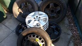Vauxhall steel wheels all 5 stud, and trims to fit