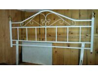 White Metal Headboard