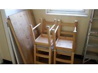 INGO IVAR IKEA dining set 4 chairs + chusions