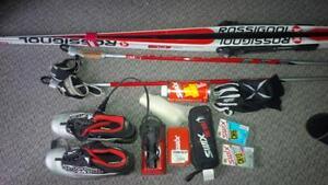 Ensemble de ski de fond et accessoires
