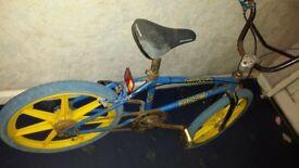 Raleigh Burner Blue MK1 - Simplex Mags Bmx