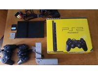 Sony Playstation 2 Slim PS2 boxed console & accessories