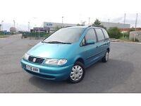 1998 Seat Alhambra 2.0 Petrol 7 Seater MPV MOT'd Cheap People Carrier Sharan Galaxy Zafira Picasso