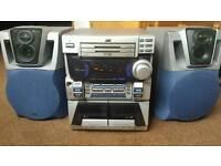 JVC MX-J300 CD RADIO AUX Player