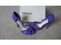Dune high heel purple shoes uk7