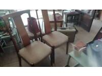 4 wooden chairs in good condition can deliver or collection