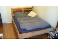 Unique handmade wooden double bed frame