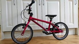 Islabike Cnoc 14 in pink - great condition, with brand new Islabikes tyres