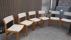 6 Farstrup chairs in good condition