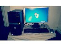 HP 500B MF 22'' samsung screen, 3GB RAM, 320GB HDD