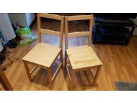 2x DANHULT ikea wooden dining chairs