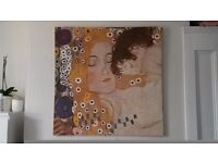 Klimt print on canvas