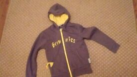 brownies fleece jacket for girls size 7-8 years old