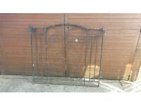 8ft Opening Wrought Iron Gated