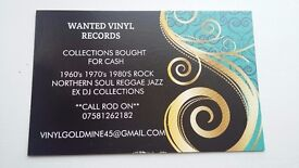 WANTED VINYL RECORD COLLECTIONS CASH PAID WILL TRAVEL HELPFUL FRIENDLY BUYER