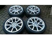 GENUINE 18 INCH ALLOY WHEELS 5X112 A3 A4 A5 A6 Q3 Q5 S4 S3 VW GOLF PASSAT T4 MERC SEAT
