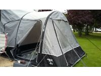 Vango AIRaway Kela Tall Drive Away Awning 2017 model, attachment kit and air pump. Carpet included