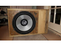 Lanzar Heritage 15'' 2400 Watt Dual 4 Ohm Subwoofer & Ported Box £130 OVNO