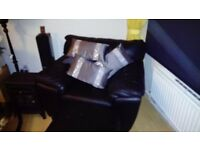 Black leather armchair £200..00