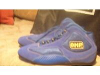 OMP Racing boots with bag