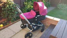 Mother care xpedior travel system in plum in good used condition