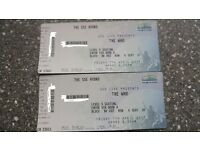 The Who - Glasgow SSE Hydro 7th April - 2 x Floor Seating - Face Value