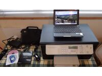 MSI Wind U135DX 10.2 Netbook/Pc AS New) very little use,(less than 100 hours ) + Printer, only £145
