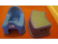 Baby potty plus step in very good condition from smoke free home