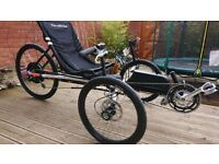 Built recumbent Terratrike tricycle electric bike HPV commuter vehicle 40mph UK