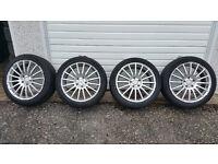 AUDI VW MERCEDES 18'' alloy wheels + 4 x tyres 245 40 R 18 97V